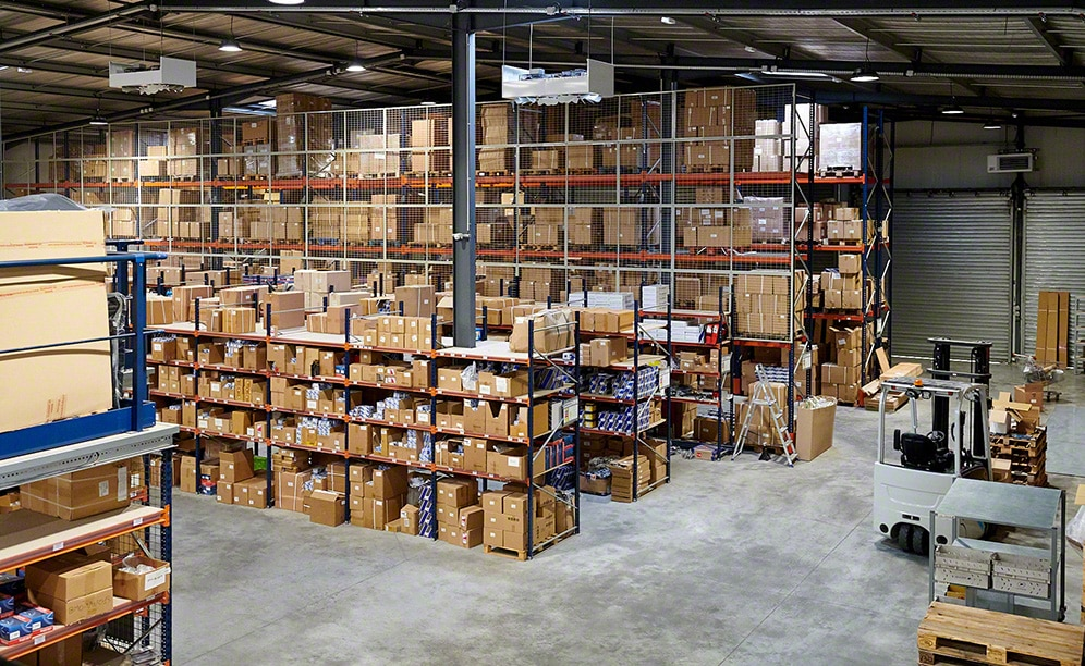 The BF Autoparts warehouse where it stores spare parts for cars