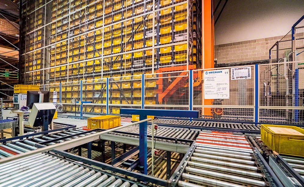 The high throughput of the automated warehouse for boxes at JCH