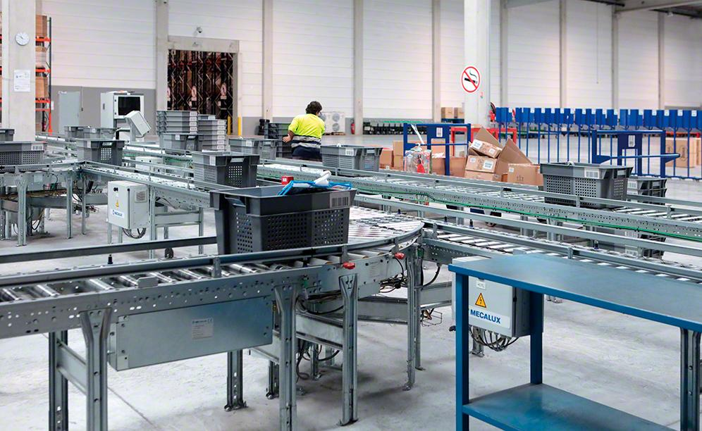 The installation has pallet racking, as well as a sorting and order consolidation area that streamline operations being carried out
