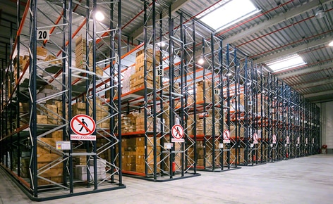 Mecalux equipped the warehouse with pallet racks, noted for their versatility in adapting to a wide variety of SKUs