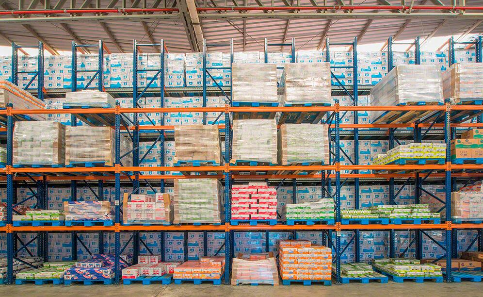 These racks are typified by their versatility in accommodating pallets of different sizes and turnovers, and for providing direct access