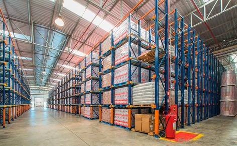 Three warehousing systems classify the merchandise of dairy producer Bela Vista according to turnover in its Minas Gerais (Brazil) distribution centre