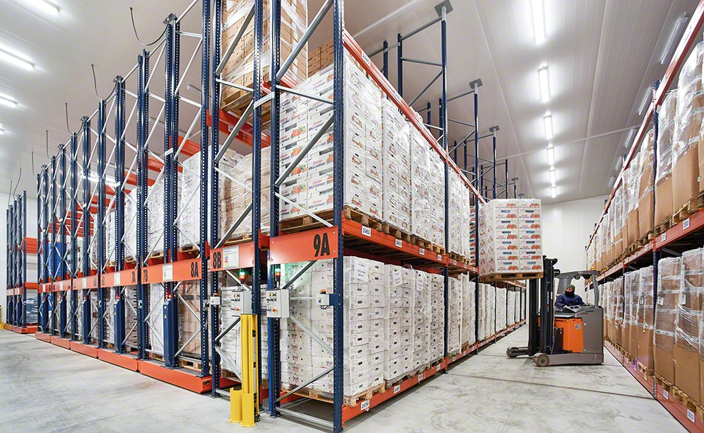 The efficiently run frozen storage warehouse of Comag