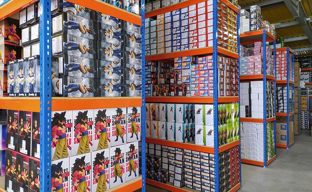 Global Freaks' warehouse for collectible action figures from anime series