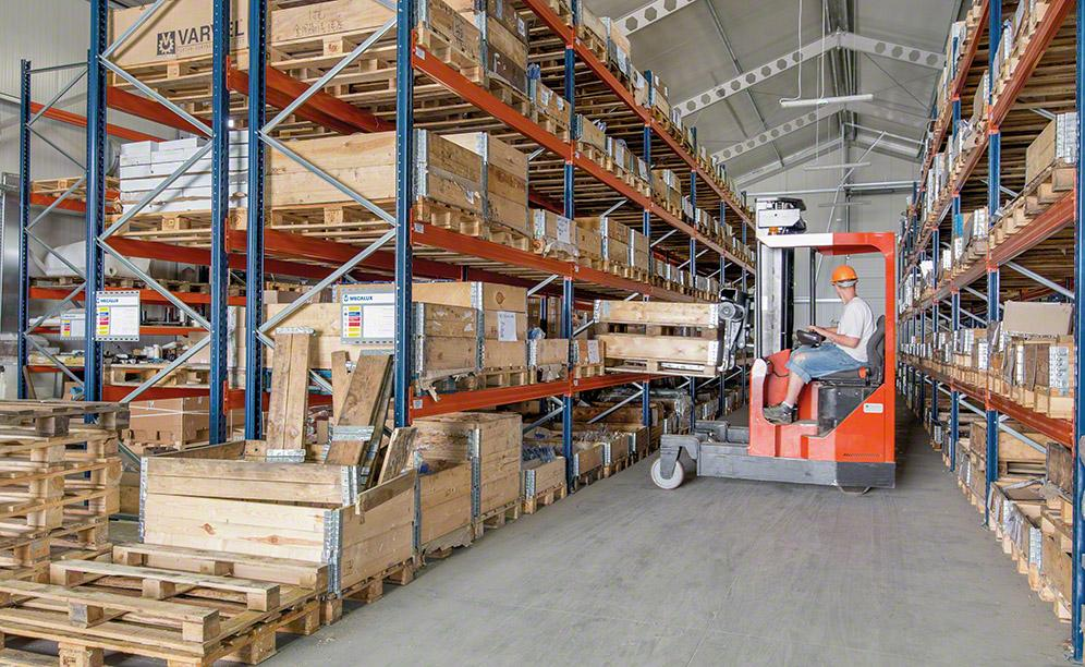 Mecalux has supplied pallet racks with a 456-pallet capacity