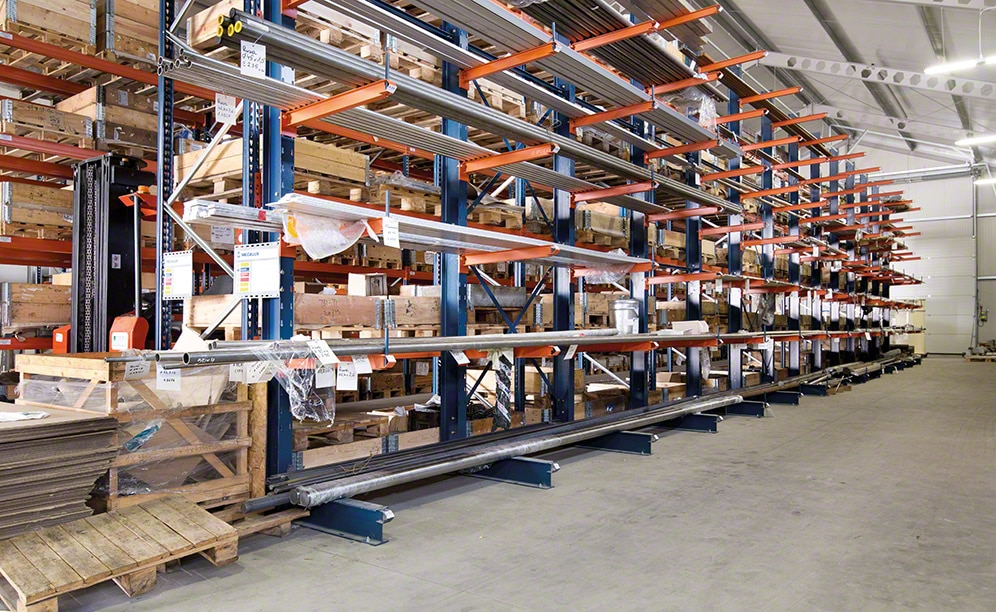 The new metal profile material warehouse of MetalERG in Poland