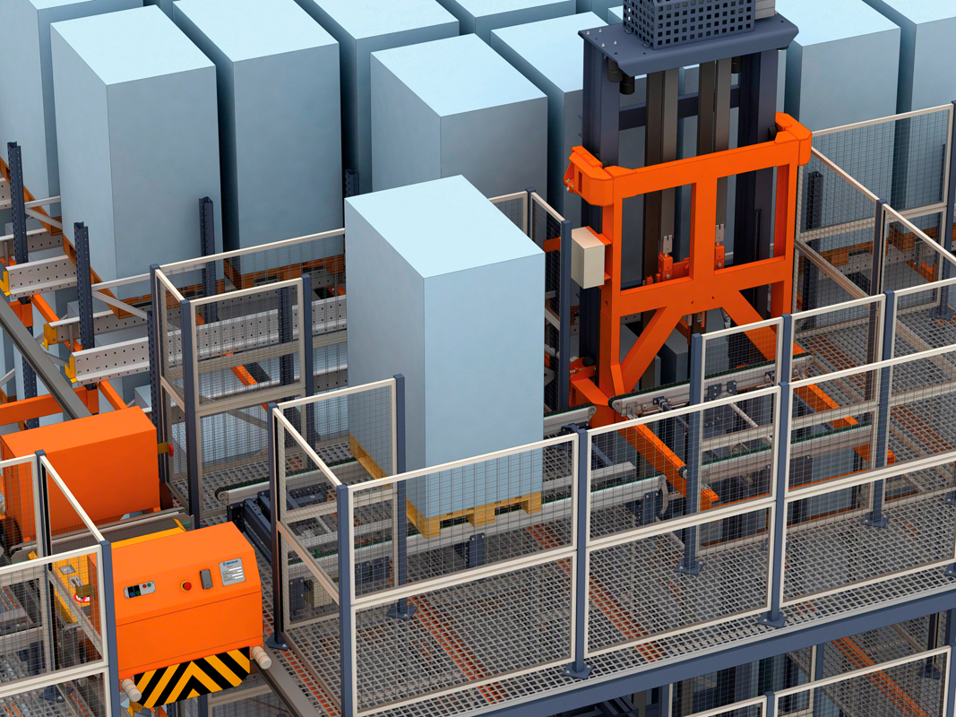 Automatic Pallet Shuttle with transfer car: large storage capacity and a very high number of cycles