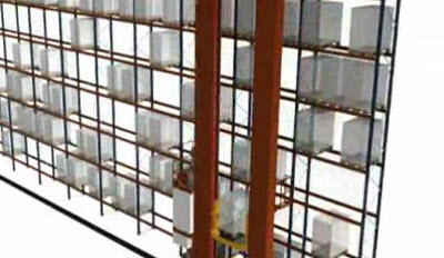 Combined cycle stacker cranes for pallets