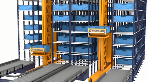 Automated miniload warehouse