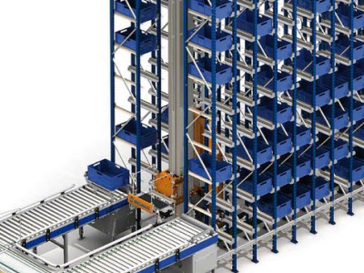 Automated warehouse for boxes means top productivity at Project