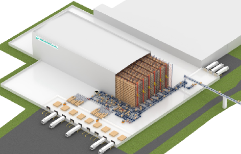 Automated clad-rack warehouse for Intersurgical in Lithuania