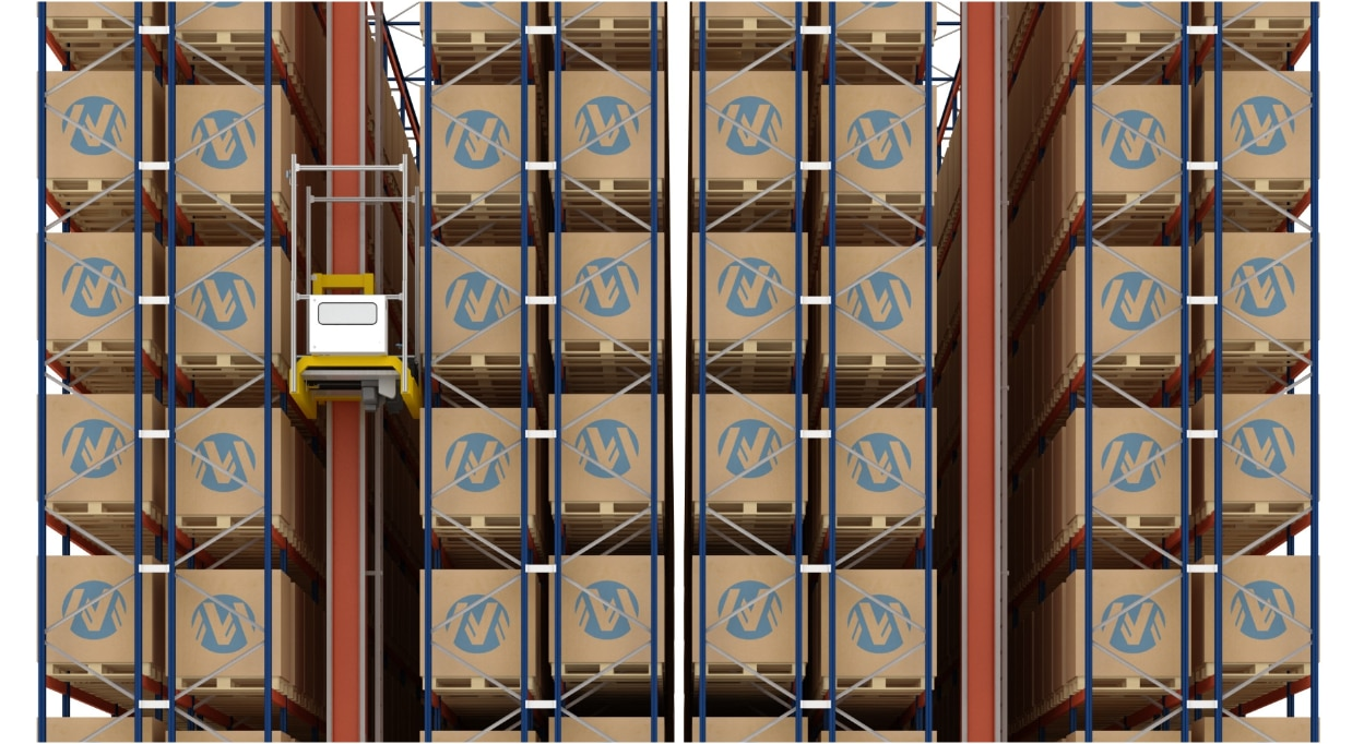 Automated warehouse for pallets and a Miniload system of Miguélez in Spain