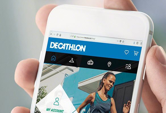 Picking shelves in the online sales warehouse of Decathlon
