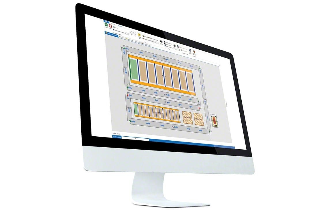 A PC installed with a WMS to correctly manage and measure a warehouse's KPIs.