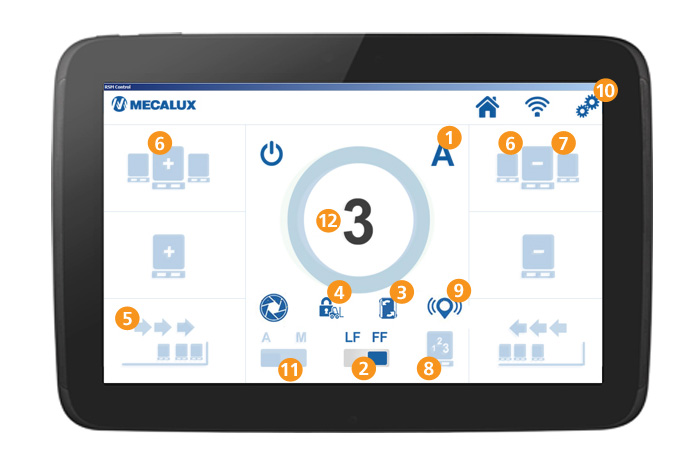 Tablet for use in ambient temperature - Mecalux® metal shelves
