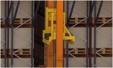 Automated warehouse at the Kiwi Greensun logistics centre in Portugal