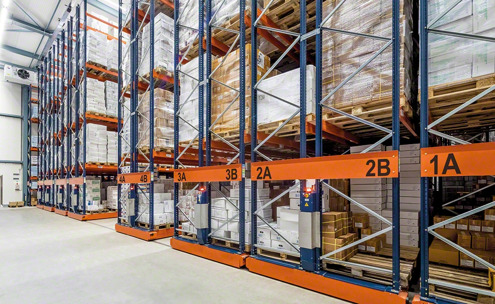 The Movirack system adapts to the particular features of any warehouse