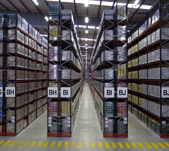 A Warehouse With Pallet Racks To Hold More Than 30 000