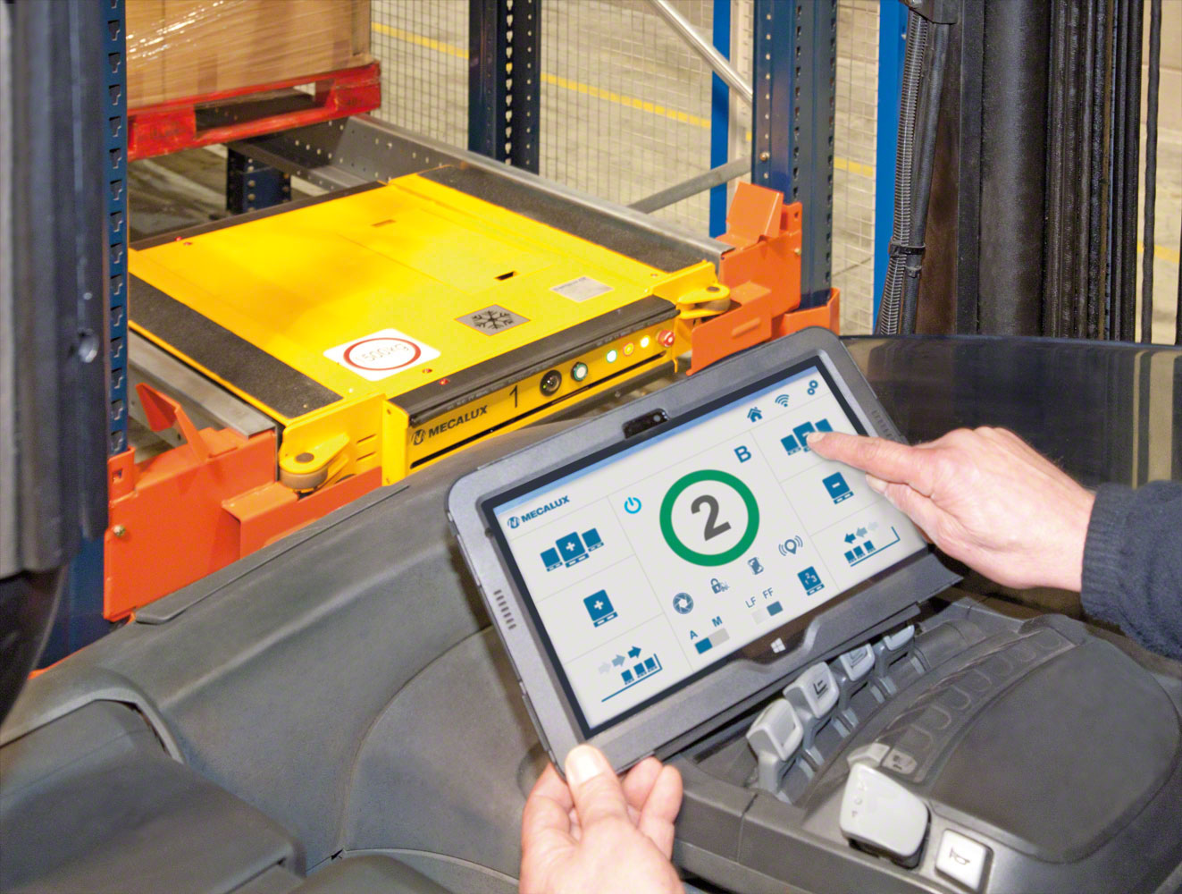 The Wi-Fi control tablet has a very intuitive user interface