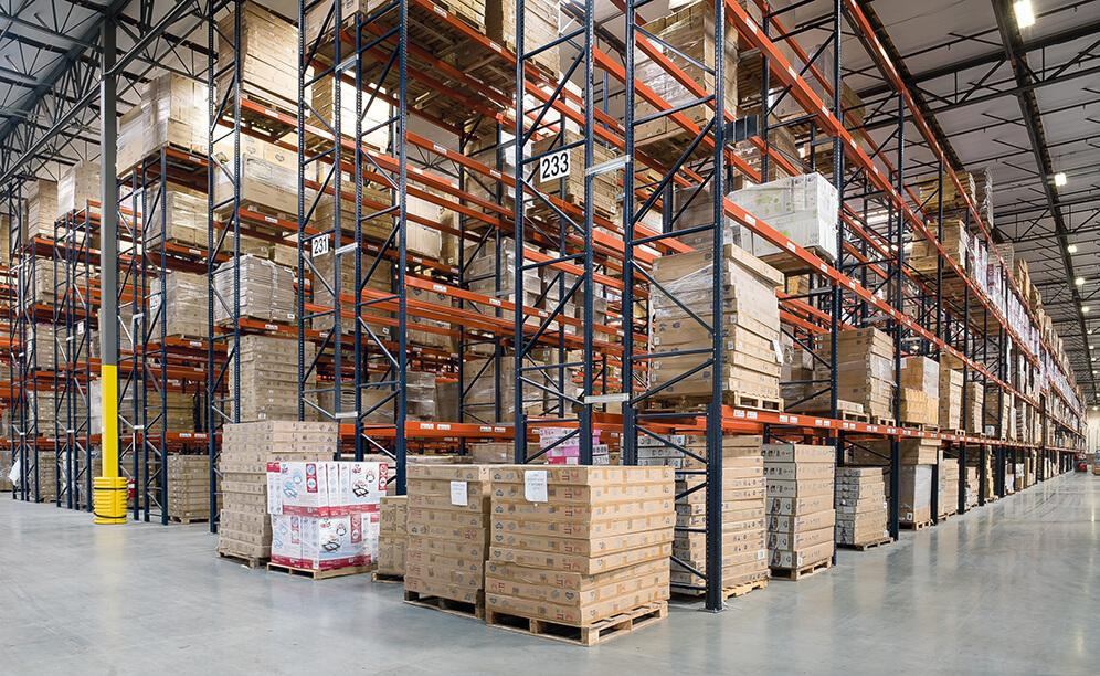 Delta Children's new warehouse features 47 aisles of pallet racking aisles that can store 30,606 pallets