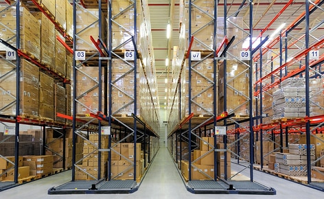 How to speed up order preparation using live pallet racking with 178 roller channels